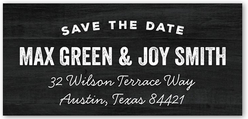 Getting Married Address Label