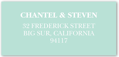 Picture Perfect Couple Address Label