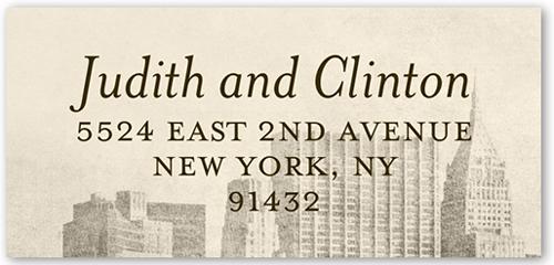 Vintage Skyline Address Label