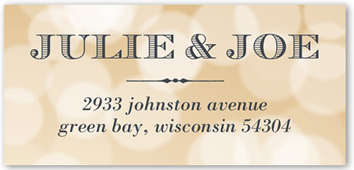 Our Blissful Moment Address Label