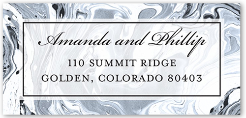 Marbled Elegance Address Label