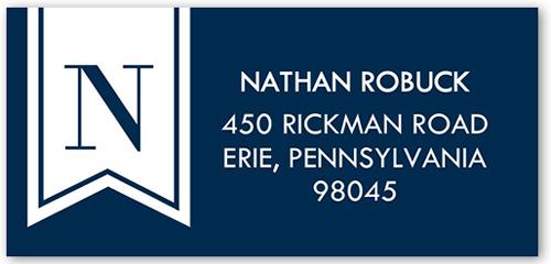 Banner Monogram Address Label