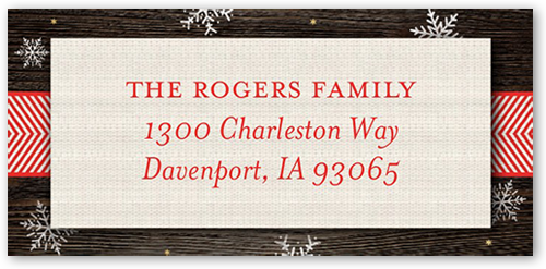 Rustic Cheer Address Label