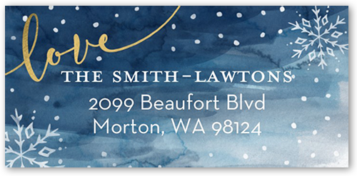 Snowy Border Address Label