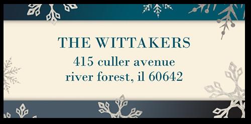 Illuminated Snowflakes Address Label