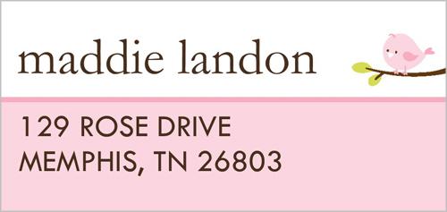 Baby Bird Address Label