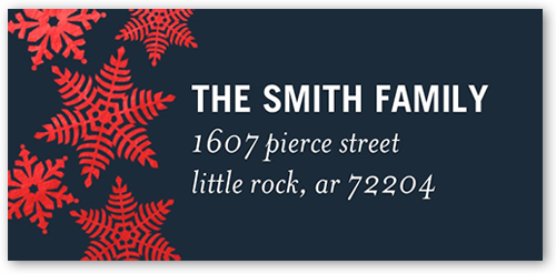 Classic Snowflake Gallery Address Label