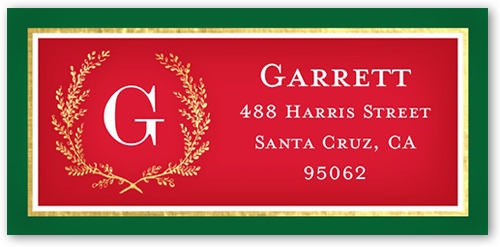 Merry Monogram Gallery Address Label