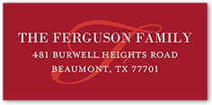 merry monogram banner address label