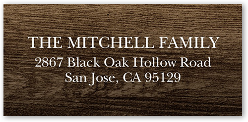Faith And Love Banner Address Label