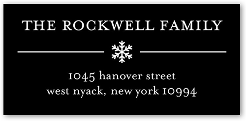 Basic Snowflake Gallery Address Label