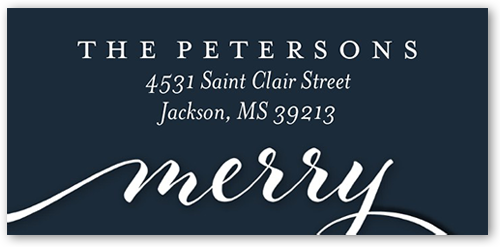 Simply Merry Script Address Label