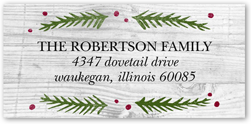 Woodgrain Merry Address Label