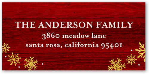 Sparkling Very Merry Address Label