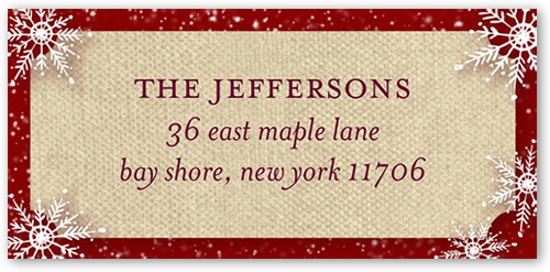 Festive Falling Snow Address Label