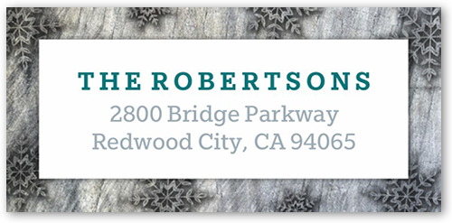 Flurries On Wood Address Label