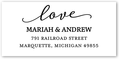 Love & Laughter Address Label
