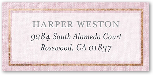 Linen Introduction Girl Address Label