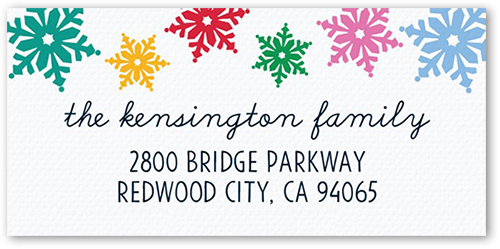 Happy Whimsical Flurries Address Label
