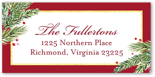 Corner Foliage Greeting Address Label