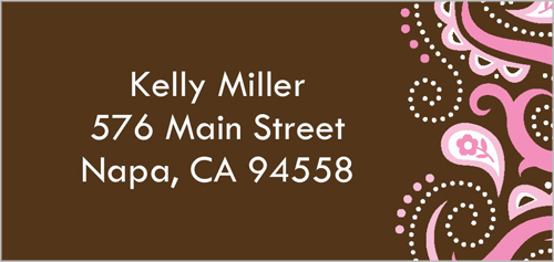 Bat Mitzvah Paisley Address Label