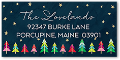 glowing merry trees address label
