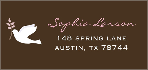 Pink Love Address Label