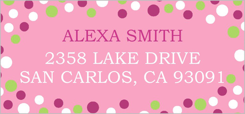 Confetti Party Pink Address Label