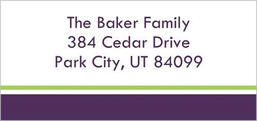 Prepster Purple Address Label