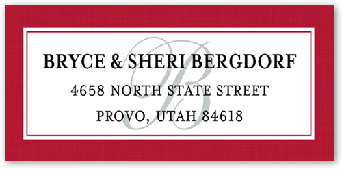 Our Family Name Address Label