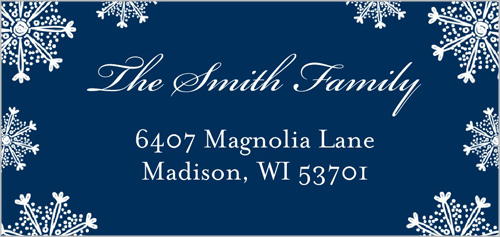 Family Snowfall Address Label