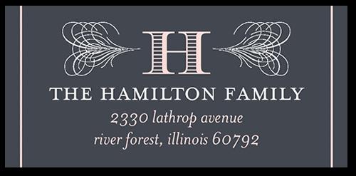 Vintage Style Address Label