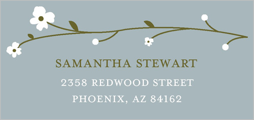 Sweet Blooms Address Label