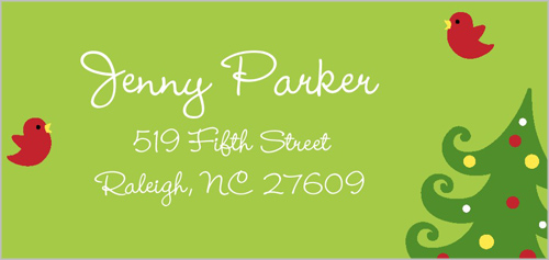 Merry Tree Memories Address Label