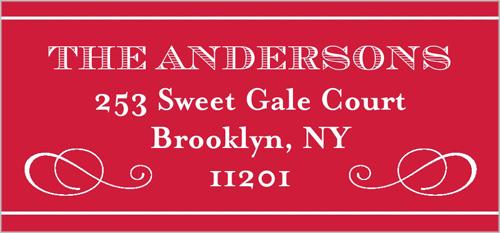 Fancy Flourishes Address Label