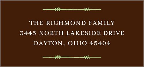 Monogram Snowflake Address Label