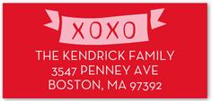 sent with love address label