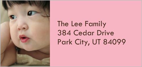 Classic Pink Address Label