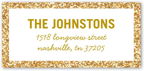 Dazzling Border Address Label