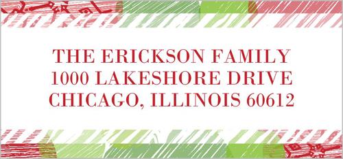 Christmas Return Address Labels.Snow Spots Christmas Return Address Labels Shutterfly
