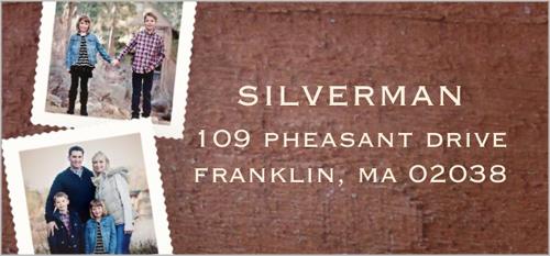 Stamped Frame Collage Address Label