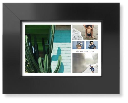Hero Collage Art Print, Black, Pearl Shimmer Card Stock, 5x7, White
