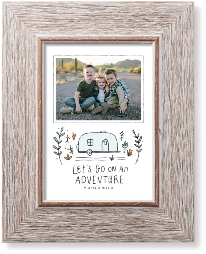 Lets Go On An Adventure Art Print, Rustic, Pearl Shimmer Card Stock, 5x7, Gray