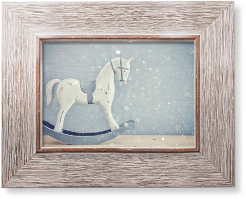 Wooden Rocking Horse Art Print, Rustic, Signature Card Stock, 5x7, Multicolor