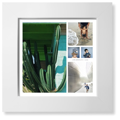 Hero Collage Art Print, White, Pearl Shimmer Card Stock, 8x8, White