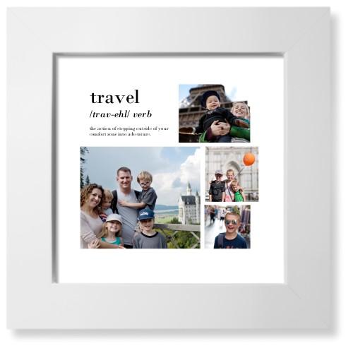 Travel Collage Art Print, White, Signature Card Stock, 8x8, White