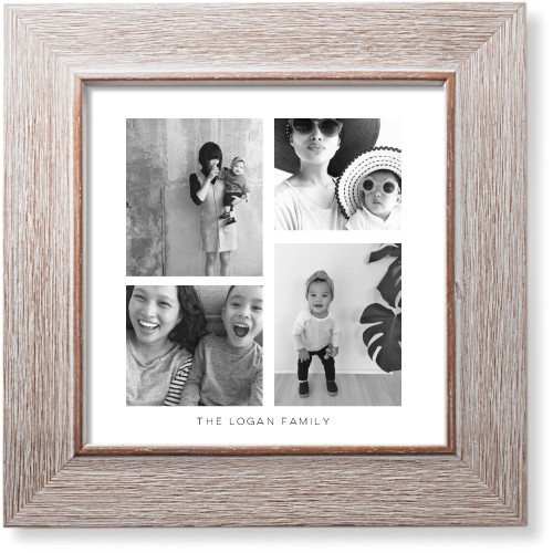 Vertical Gallery Collage of Seven Art Print, Rustic, Signature Card Stock, 8x8, Multicolor