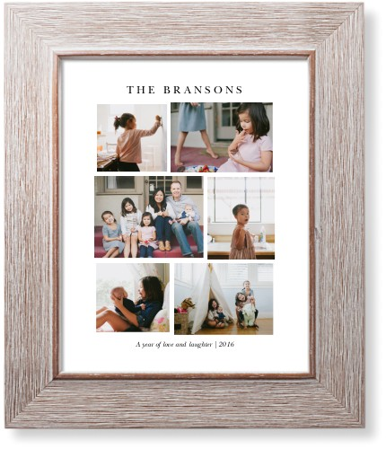 Montage Of Memories Art Print, Rustic, Pearl Shimmer Card Stock, 8x10, White