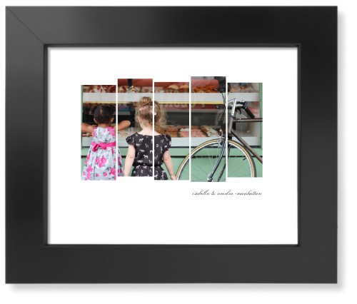Side By Side Rectangles Art Print, Black, Pearl Shimmer Card Stock, 8x10, White