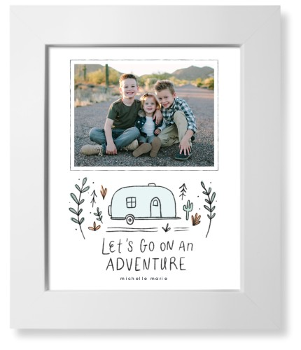 Lets Go On An Adventure Art Print, White, Signature Card Stock, 8x10, Gray